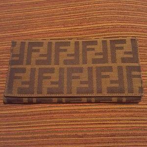 Authentic Fendi Zucca Wallet